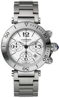 Cartier Pasha Seatimer Mens Steel Watch W31089M7