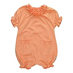 Babysoy Bubble Romper (Baby) - Cantaloupe-18-24 Months