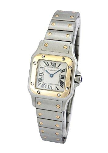 [カルティエ]CARTIER 腕時計 サントスガルベ ホワイト K18YG&SS W20012C4 レディース 【並行輸入品】