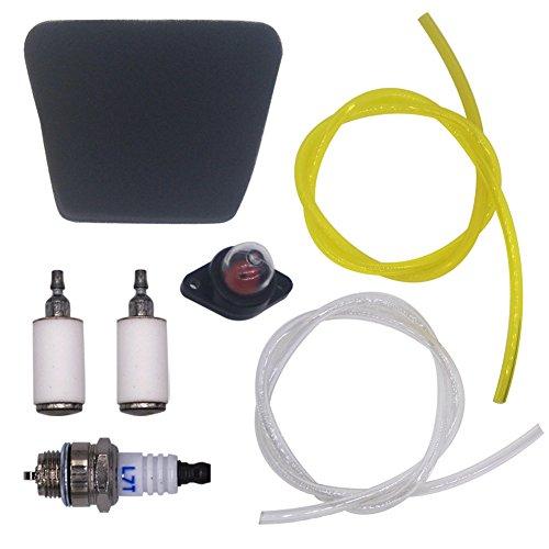 FitBest Gas Fuel line fuel filter air filter primer Bulb Spark Plug for Poulan Craftsman Chainsaw Replaces 530037793 530095646 530071835 188-513-1 (Poulan Chainsaw Parts Air Filter compare prices)