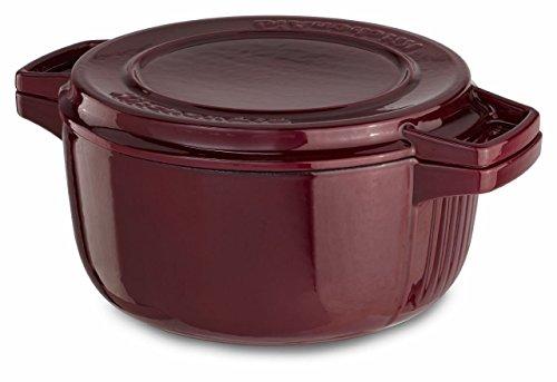 Kitchenaid Cast Iron Professional Cookware Kcpi40Crrr Royal Red 4-Qt Casserole