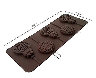 Yunko W0685 Skull Pirates Shape Lollipop Shape Silicone Chocolate Candy Mold with Sticks