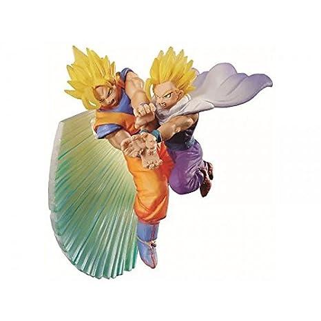 MegaHouse - Figurine DBZ Dracap Memorial Kamehameha - Son Goku & Son Gohan Diorama 6cm - 4543123819860