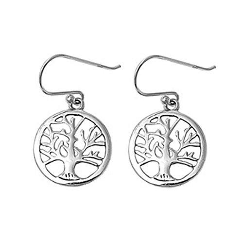 925 Silver Tree of Life Orecchini
