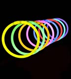"100 Lumistick 8"" Glow Stick Glow Bracelets - Assorted 8 Color Mix"