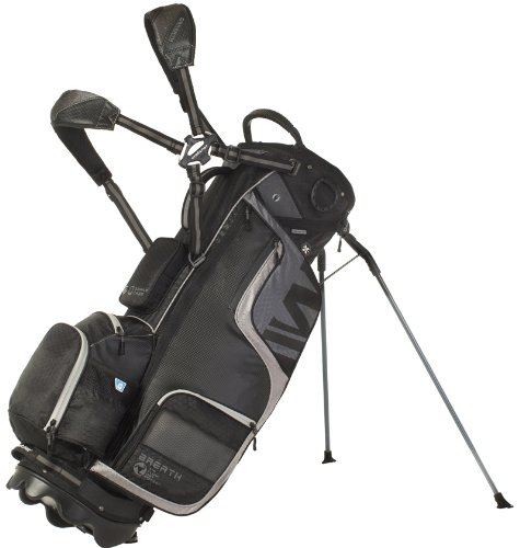 Wellzher T.E. Stand Carry Golf Bag (Black/Silver)