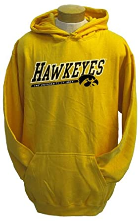 NCAA Mens Iowa Hawkeyes Zooey Hooded Sweatshirt by CI Sport