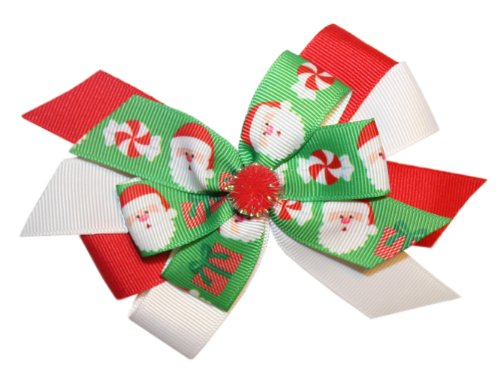 Webb Direct 2U Girls Christmas Santa Claus Hair Bow On French Clip (5247Fc) front-528849
