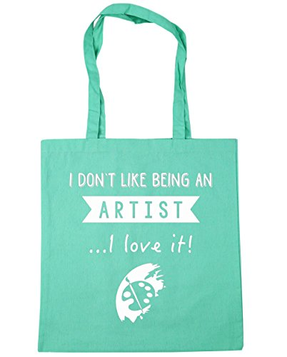 hippowarehouse-i-dont-like-being-an-artisti-love-it-tote-shopping-gym-beach-bag-42cm-x38cm-10-litres