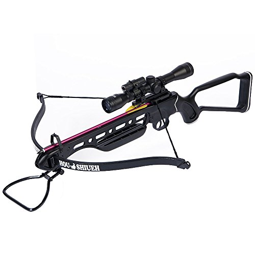 150-lb-Black-Metal-Hunting-Crossbow-Archery-Bow-4x20-Scope-12-Bolts-180-80-50