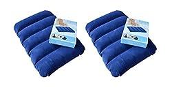 Set of 2 INTEX Velvet Soft Air Inflatable Travel Pillow for Family, Children & Baby