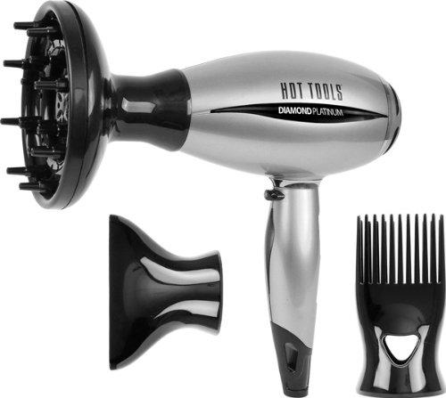 Hot Tools Diamond Platinum Mid-size Ionic Salon Hair Dryer-1