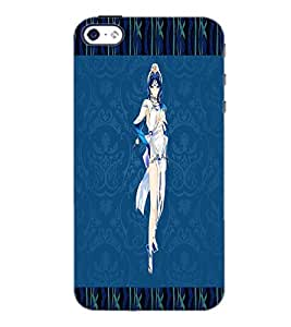 PrintDhaba Fantasy Girl D-3559 Back Case Cover for APPLE IPHONE 4 (Multi-Coloured)