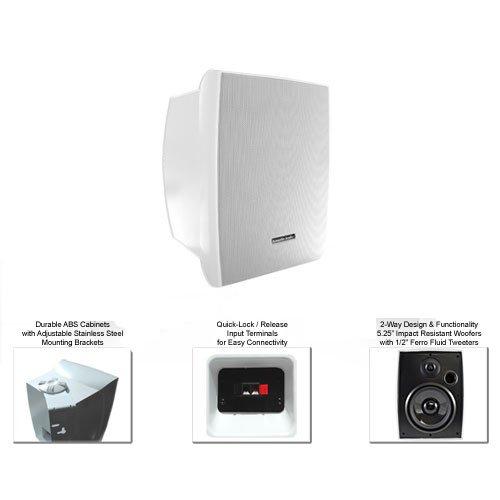 Acoustic Audio Aw525W Indoor/Outdoor Speakers (White, 2)
