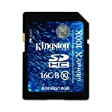 Kingston Digital 16 GB Flash Memory Card SD10G2/16GB