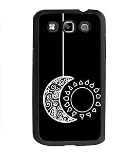 Sun and Moon 2D Hard Polycarbonate Designer Back Case Cover for Samsung Galaxy Quattro Duos :: Samsung Galaxy Grand Quattro :: Samsung Galaxy Win Duos I8552