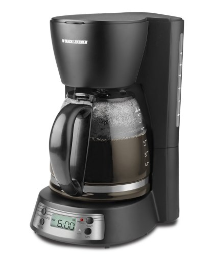 Black and Decker BCM1410B 12-Cup Programmable Coffeemaker with Glass Carafe Appliances for Home