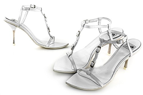 FRU.IT scarpe donna N.35 sandalo bianco in pelle made in italy X2482