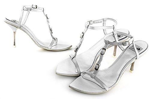 FRU.IT scarpe donna N.35 sandalo bianco in pelle made in italy X2482