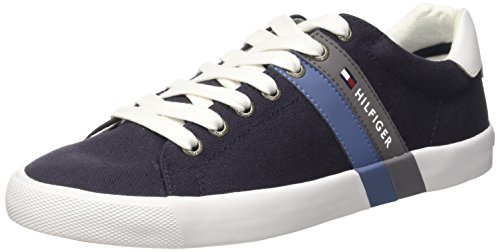 Tommy Hilfiger SM V2285OLLEY 5C2 Scarpe Low-Top, Uomo, Blu (Midnight 403), 42