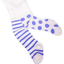 Naartjie Girls Stripes with Dots Tight (18-24Months, Ivory)