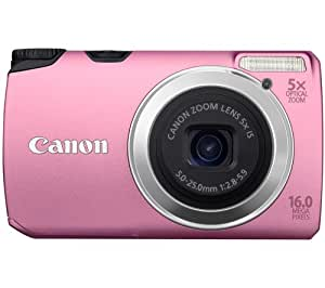 "Canon  PowerShot A3300 IS Appareil Photo Numérique 16 Mpix Mode ""Smart Auto"" Rose"