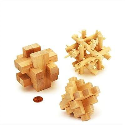Cardinal 79100 Brain Benders 3D Wood Puzzle