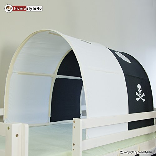 homestyle4u tunnel bogen zelt bettzelt schwarz bettdach. Black Bedroom Furniture Sets. Home Design Ideas