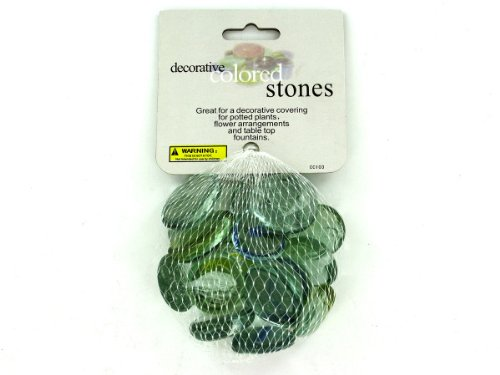Decorative colored stones - Pack of 36