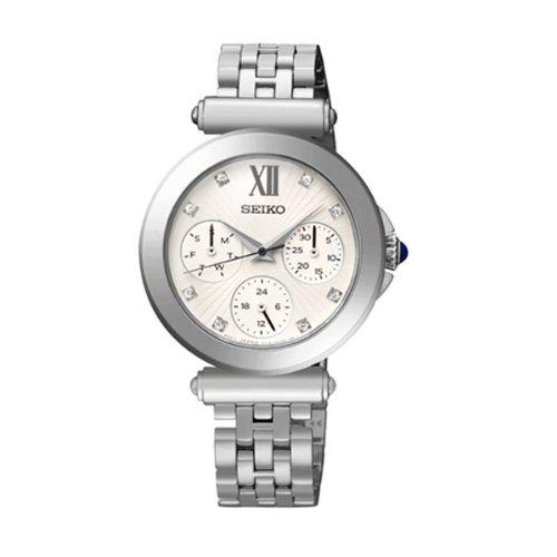 Seiko Regular Sky701P1 32Mm Silver Steel Bracelet & Case Hardlex (Used For Seiko Only) Women'S Watch