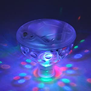 [Modified Version]VicTsing 5 Light Patterns Underwater Floating Lamp LED Disco AquaGlow Multi Colour Flashing Pond Pool Spa Hot Tub Party Night Light by VicTsing