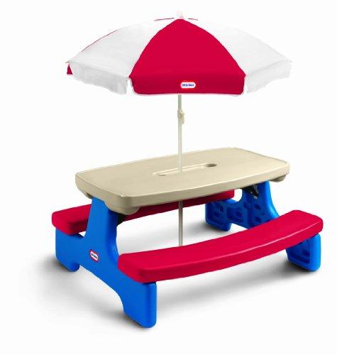 Little Tikes Easy Store Large Picnic Table  Umbrella