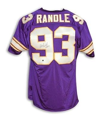 "Autographed John Randle Minnesota Vikings Throwback Jersey Inscribed ""HOF 10"""