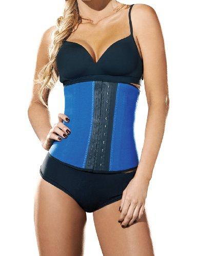 Ann Chery Women'S Latex Sport Waist Cincher Shapewear L(36) Blue