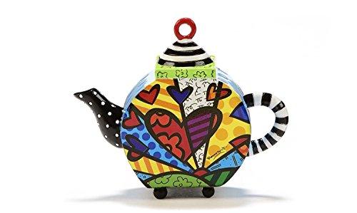 Romero Britto Decorative Mini Teapot Figurine-