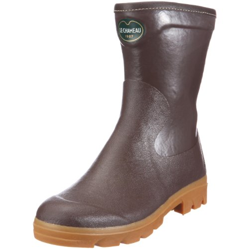 Le Chameau Women's Anjou Bottillon Jersey Brown Wellington Boot BCB1792 6.5 UK