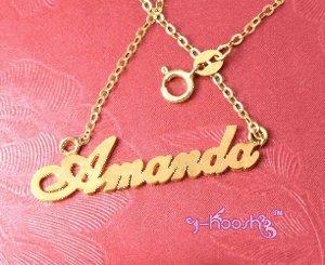 Personalized 18K Gold Plated Name Necklace Any Language Amanda