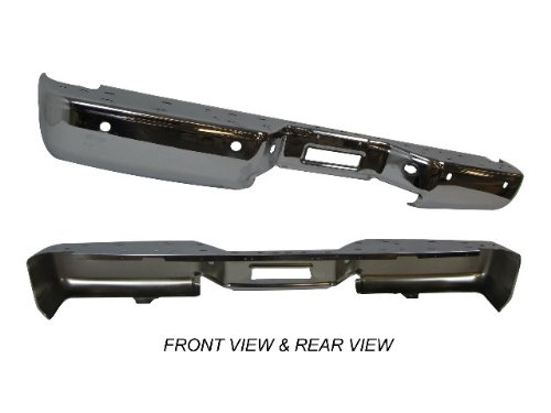 2004-2010 Nissan Titan Rear Step Bumper Face Bar Chrome With Sensor Hole New front-987492