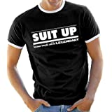 How I met your mother - SUIT UP Contraste T-Shirt Black/White, XLpar Touchlines