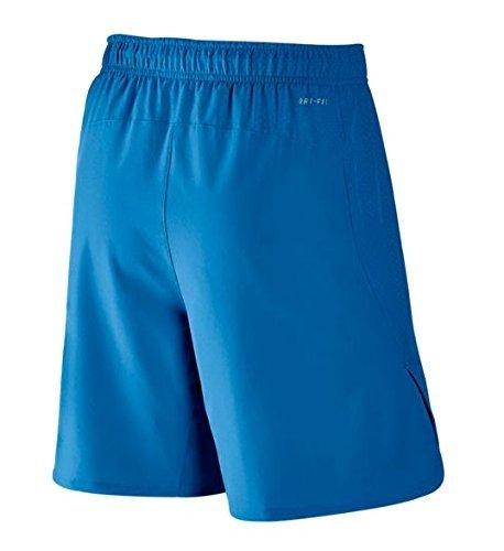 "Nike Men's Hyperspeed Woven 8"" Knit Training Shorts - (Light Photo Blue/Black)"