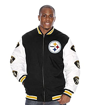 "Pittsburgh Steelers NFL ""Triple Double"" Super Bowl Commemorative Canvas Jacket"