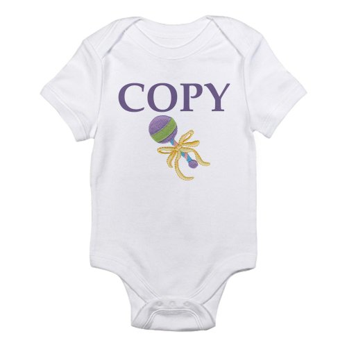 CafePress Twins: Copy/Paste Infant Bodysuit - 12-18M Cloud White