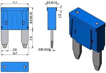 100x 30A KFZ Flachsicherung 6-32V