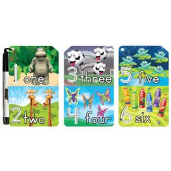 The Smart Dudes Dry-Erase Flash Cards, Numbers And Counting, Pack Of 9 - 1
