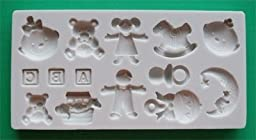 Nursery-Alphabet Moulds Moules en Silicone pour décoration de gâteau