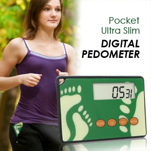 7PTLNX HealthSmart Ultra Slim Digital Pocket Pedometer