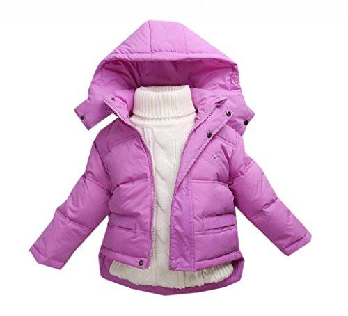 La vogue Lila Kinder Baby Daunen Mantel Jacke Winterjacke Mantel S
