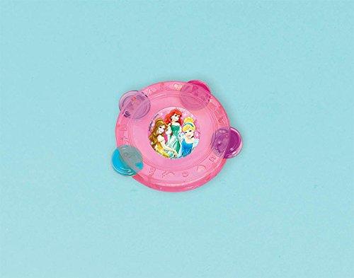 "Amscan Disney Princess Tambourine, Pink, 4 1/8"" x 7/8"" - 1"
