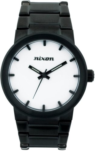NIXON (ニクソン) 腕時計 THE CANNON ALL BLACK / WHITE メンズ [正規輸入品]