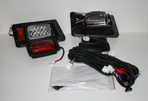 New Yamaha G14 G16 G19 22 Led Head Lights & Led Tail Lights Golf Cart Light Kit